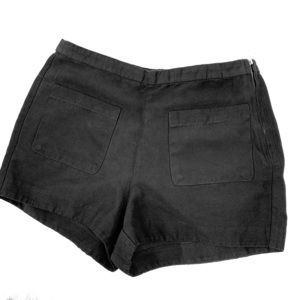 VTG Faux Suede Black Hotpants Shorts highrise S
